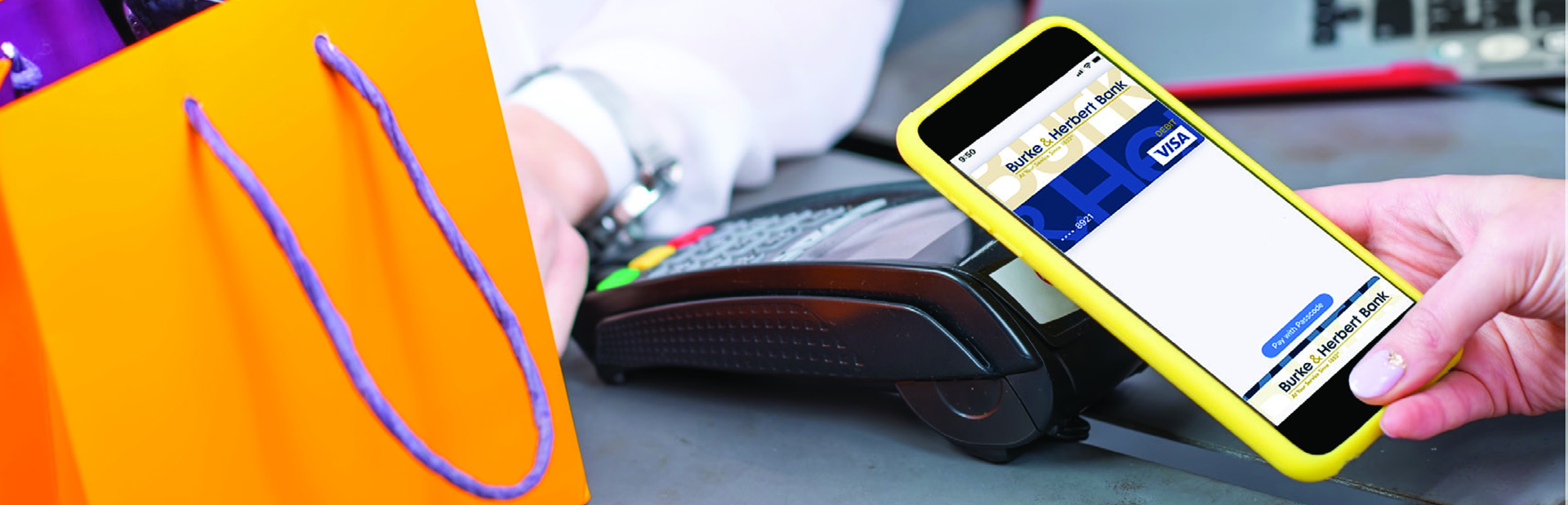 Paying with App using Burke & Herbert's Digital Wallet